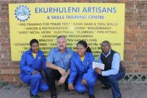 Ekurhurleni Artisans and Skills Training Centre sponsor young girls an Electrical Training Course