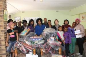 The HDA donate groceries and blankets as a part of their 67 minutes this Mandela Day